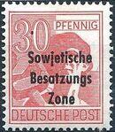 Russian Zone 1948 Overprint - Sowjetische Besatzungs Zone k