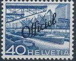 Switzerland 1950 Engineering - Switzerland Postage Stamps of 1949 Overprinted Officiel h