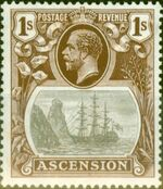 Ascension 1924 Seal of the Colony ja