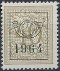 Belgium 1964 Heraldic Lion with Precancellations g