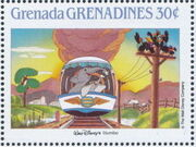 Grenada Grenadines 1988 The Disney Animal Stories in Postage Stamps 4i