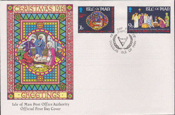 Isle of Man 1981 Christmas and Bicentenary of St. George's Church h