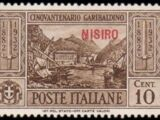 Italy (Aegean Islands)-Nisiro 1932 50th Anniversary of the Death of Giuseppe Garibaldi