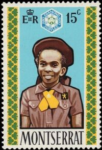 Montserrat 1970 60th Anniversary of Girl Guides b