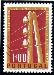 Portugal 1955 Centenary of Electric Telegraph System in Portugal a