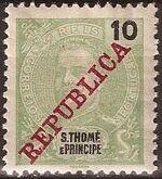 St Thomas and Prince 1911 D. Carlos I Overprinted c
