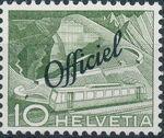 Switzerland 1950 Engineering - Switzerland Postage Stamps of 1949 Overprinted Officiel b