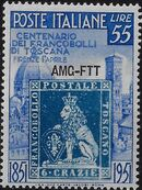 Trieste-Zone A 1951 Centenary of Tuscany's First Stamps b