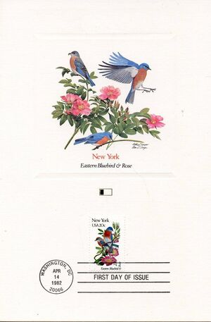 United States of America 1982 State birds and flowers FOLd5