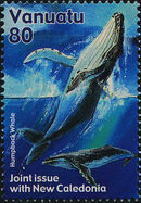 Vanuatu 2001 Whales - Joint Issue with New Caledonia b