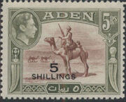 Aden 1951 King George VI Pictorials with New Values j