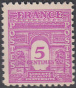 France 1944 Arc of the Triomphe - Allied Military Government a
