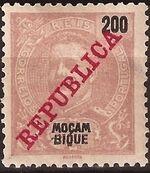 Mozambique 1911 D. Carlos I Overprinted l