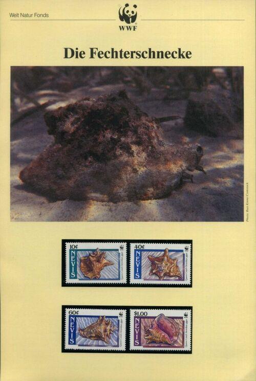 Nevis 1990 WWF Queen Conchs (Strombus gigas) IOPa
