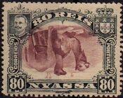 Nyassa Company 1901 D. Carlos I (Giraffe and Camels) v