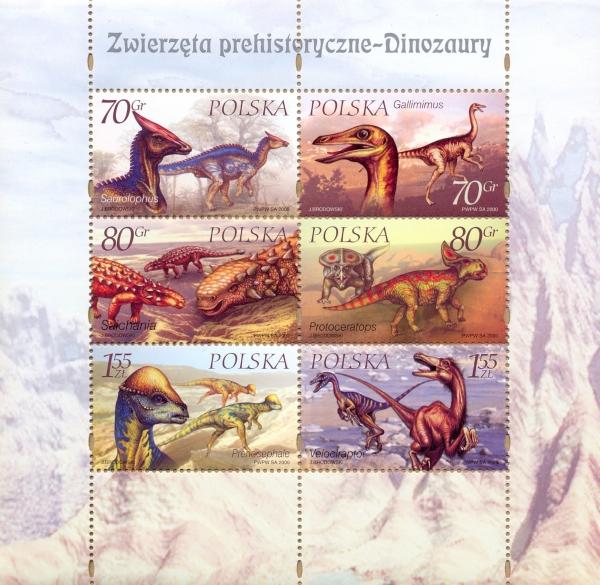 Poland 2000 Dinosaurs SSa