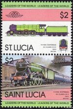 St Lucia 1983 Leaders of the World - LOCO 100 g
