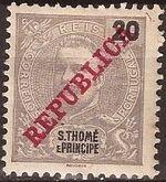 St Thomas and Prince 1911 D. Carlos I Overprinted e