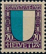 Switzerland 1922 PRO JUVENTUTE - Coat of Arms c