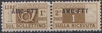 Trieste-Zone A 1950 Parcel Post Stamps of Italy 1946-54 Overprint a