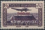 "Alexandretta 1938 Air Post Stamps of Syria (1937) Overprinted ""SANDJAK D'ALEXANDRETTE"" in Red or Black a"