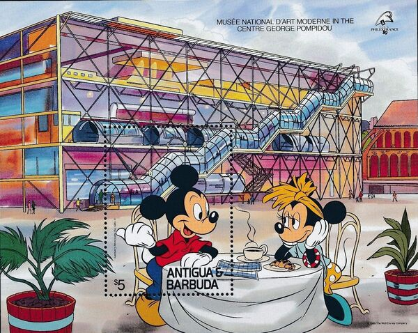 "Antigua and Barbuda 1989 Disney - ""Philexfrance 89"" International Stamp Exhibition m"
