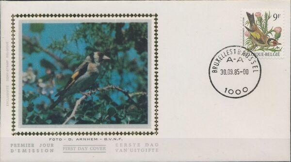 Belgium 1985 Birds FDCd