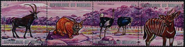 Burundi 1971 Animals af