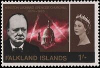 Falkland Islands 1966 Churchill Memorial c