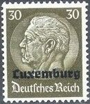 German Occupation-Luxembourg 1940 Stamps of Germany (1933-1936) Overprinted in Black k