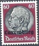 German Occupation-Luxembourg 1940 Stamps of Germany (1933-1936) Overprinted in Black n