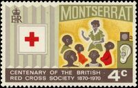 Montserrat 1970 Centenary of British Red Cross Society b