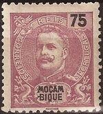 Mozambique 1903 D. Carlos I - New Values and Colors e