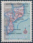 Mozambique 1954 Map of Mozambique a