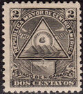 "Nicaragua 1898 Coat of Arms of ""Republic of Central America"" b"