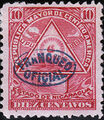 Nicaragua 1898 Official Stamps Overprinted in Blue e.jpg
