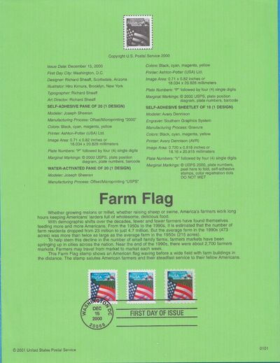 United States of America 2000 Farm Flag IOPa
