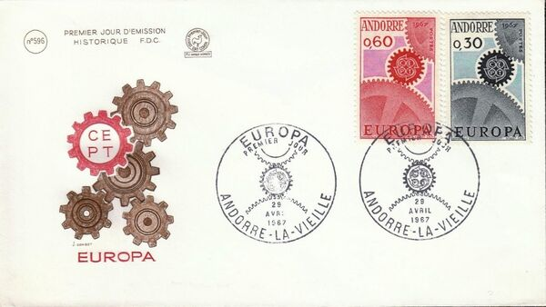 Andorra-French 1967 Europa FDCe