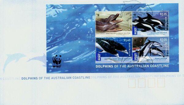 Australia 2009 WWF - Dolphins of the Australian Coastline FDCf