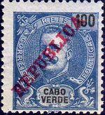 Cape Verde 1911 D. Carlos I Overprinted i
