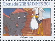 Grenada Grenadines 1988 The Disney Animal Stories in Postage Stamps 4a