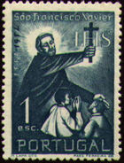 Portugal 1952 400th Anniversary of the Death of St. Francis Xavier a