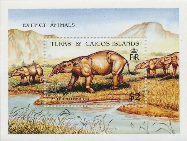Turks and Caicos Islands 1991 Extinct Animals n