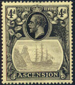Ascension 1924 Seal of the Colony f