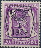 Belgium 1939 Coat of Arms - Precancel (1st Group) b