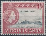 British Virgin Islands 1964 Queen Elizabeth II and Views d