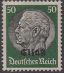 German Occupation-Alsace 1940 Stamps of Germany (1933-1936) Overprinted in Black m