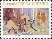 Grenada Grenadines 1988 The Disney Animal Stories in Postage Stamps 5d