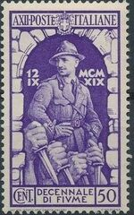 Italy 1934 10th Anniversary of Annexation of Fiume c
