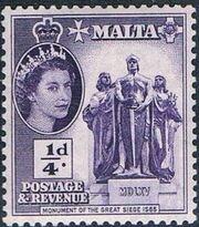 Malta 1956 Elizabeth II a